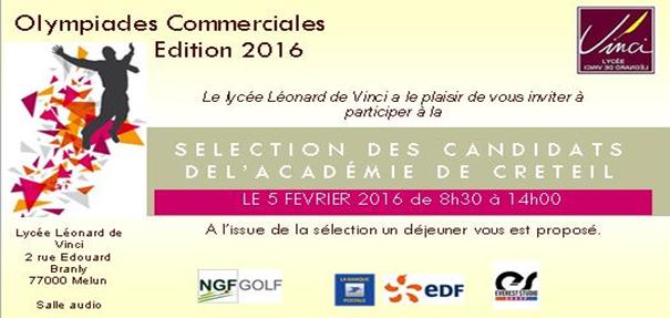 Participation du BTS NRC aux Olympiades Commerciales